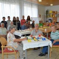 Schüler bastelten Spiele für unsere Tageszentrum-Gäste!